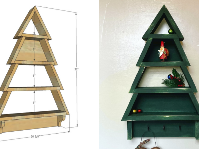 Christmas Tree Shelf DIY